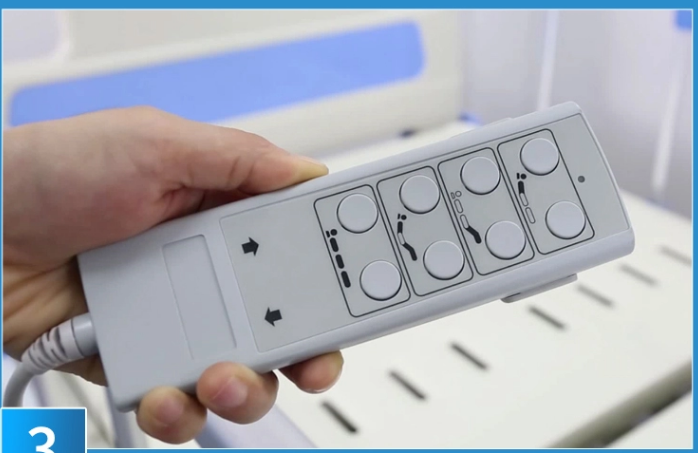 3 function electric hospital bed hand controller