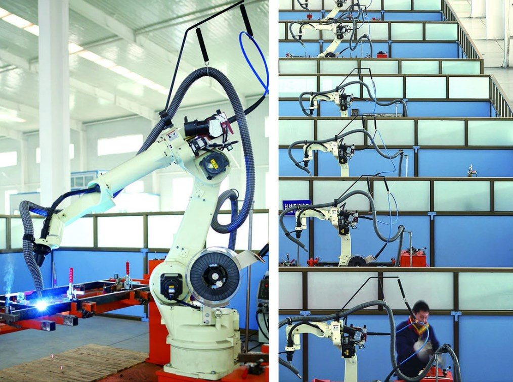 Hospital bed manufacture process of Manipulator welding