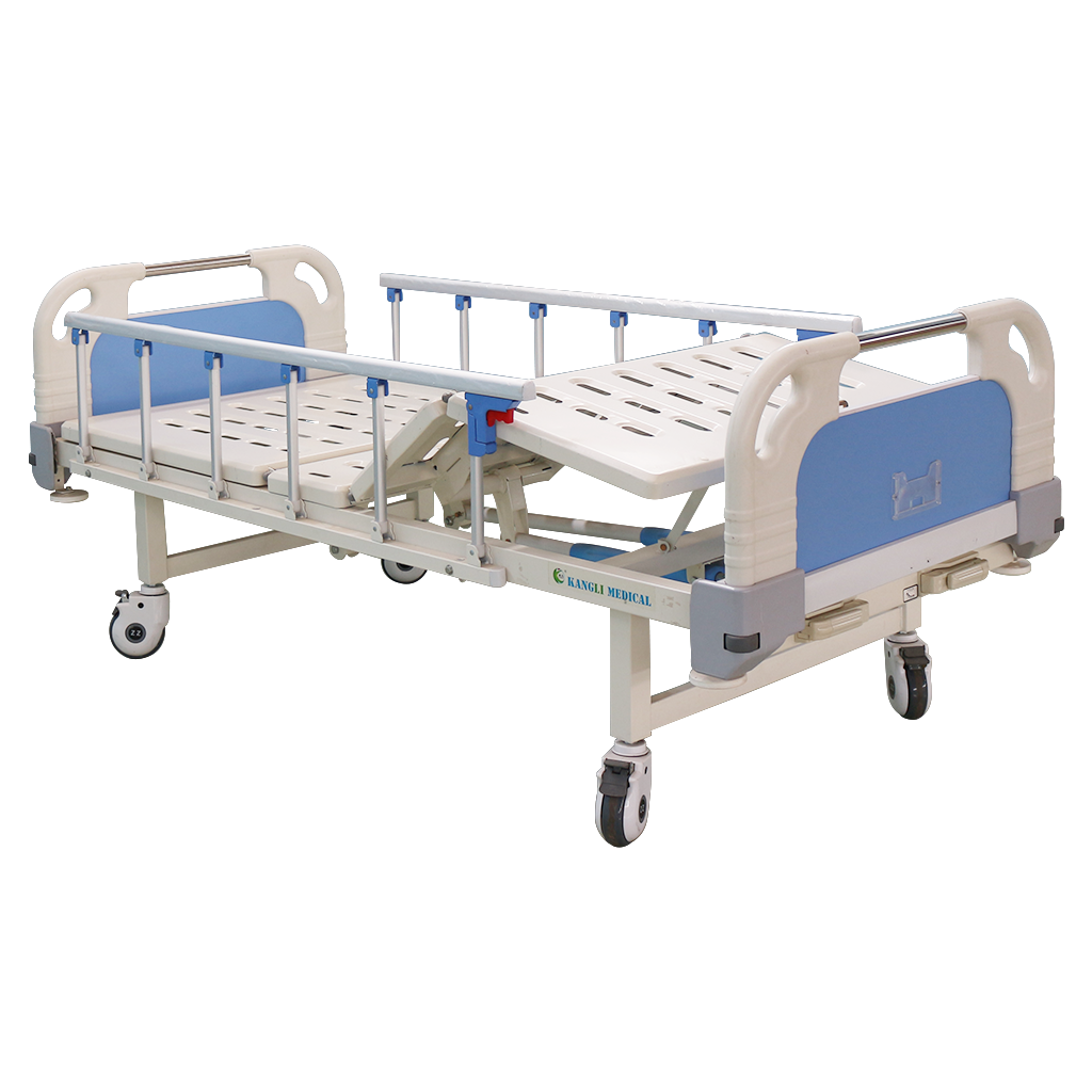 2 crank manual hospital medical bed for home use