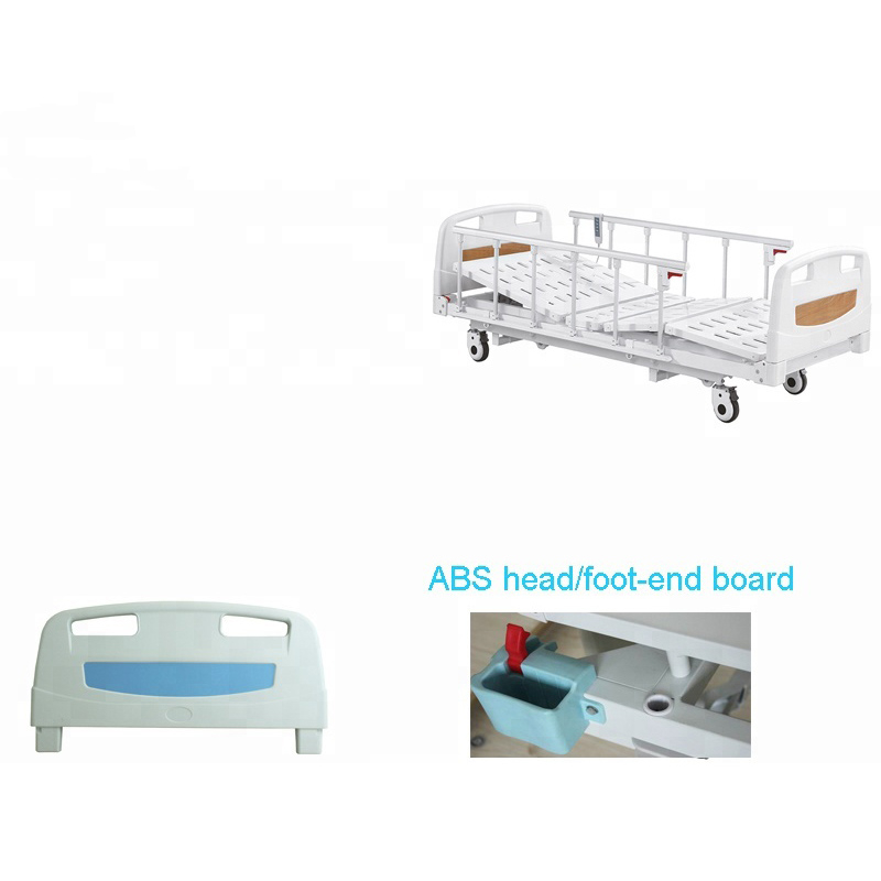 Ultra low hospital bed detachable board