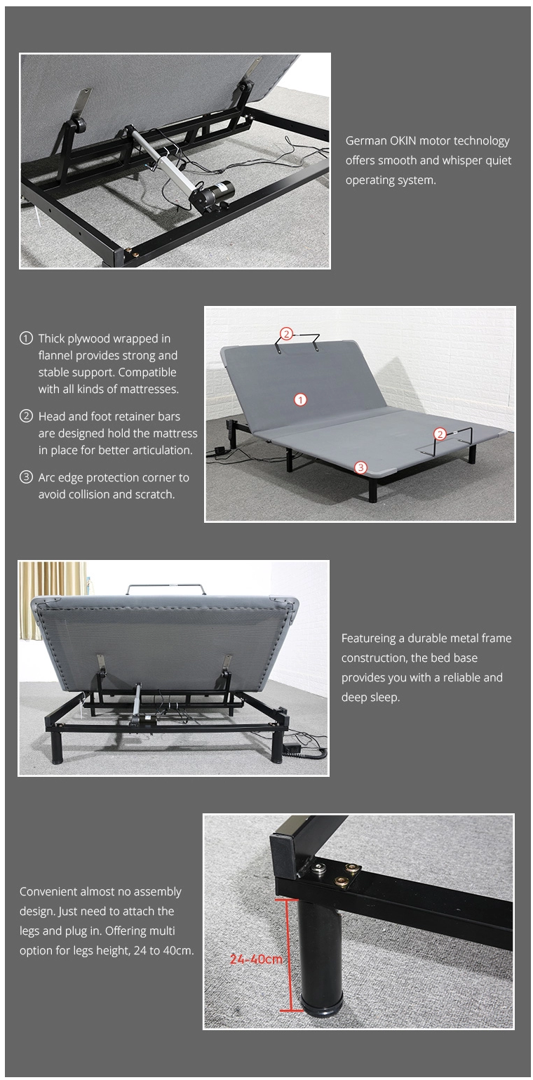 electric adjustable bed features