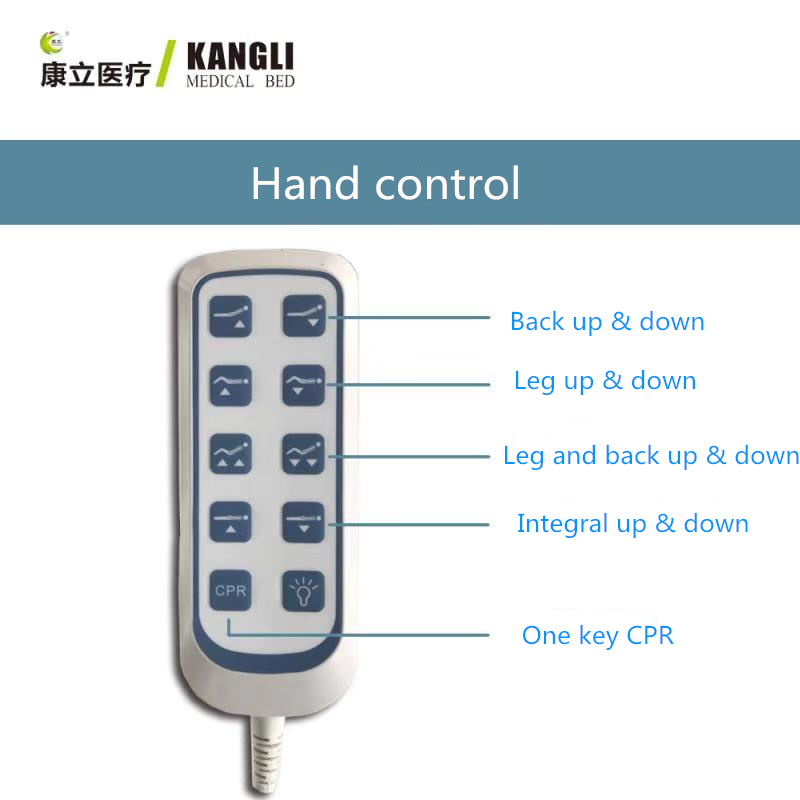 hospital bed hand controls