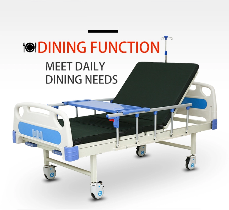 hospital bed with dinning table