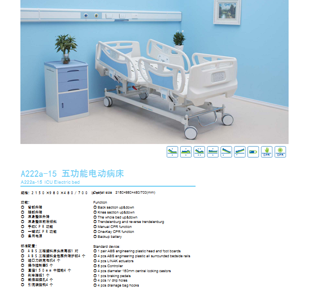 icu bed features