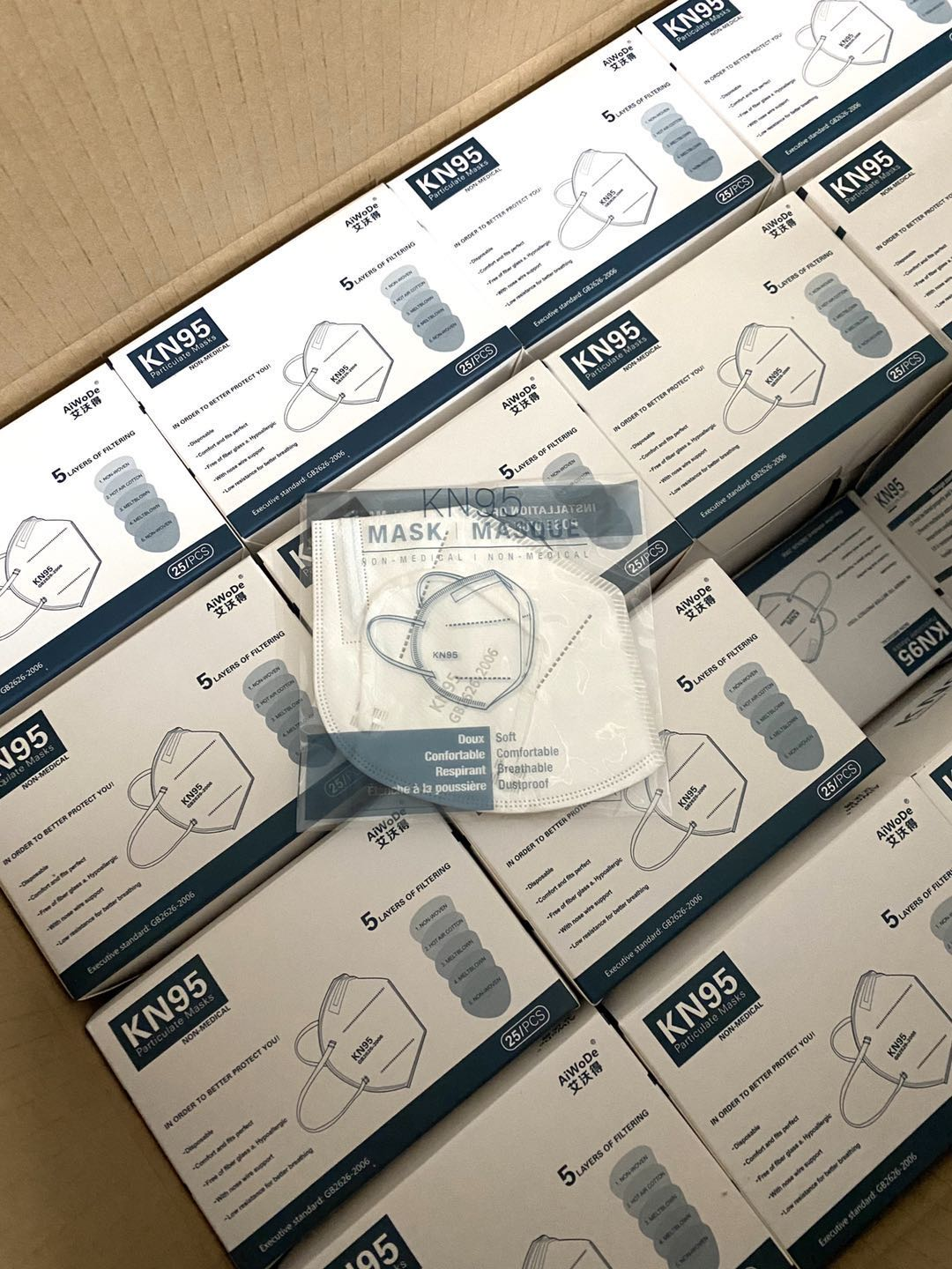 kn95 protective face mask one carton package