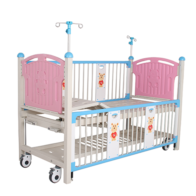 knee up and down child hospital bed