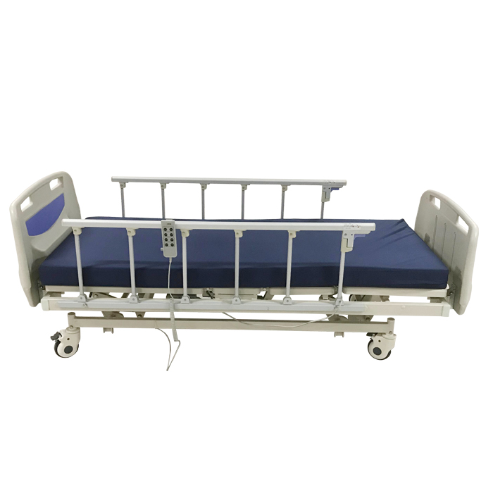 low hospital bed with mattress