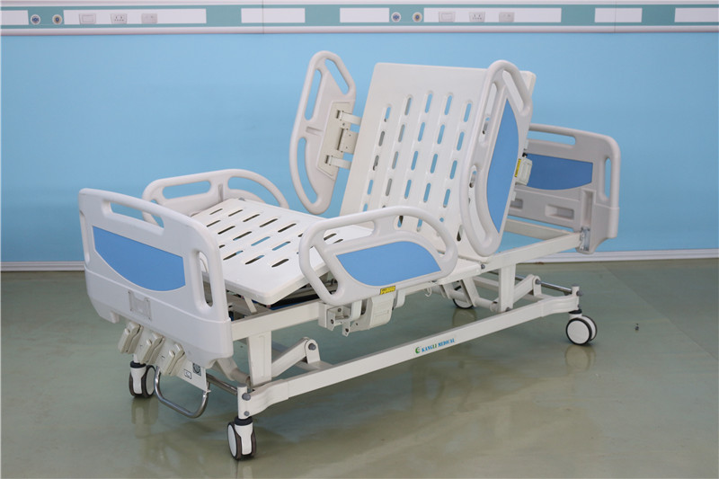 cheap manual crank hospital bed with split side rails