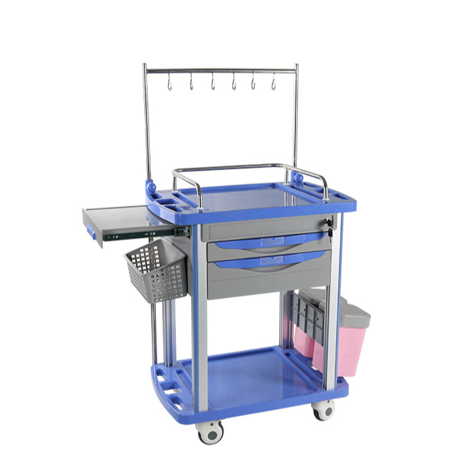 medical infusion cart extension table
