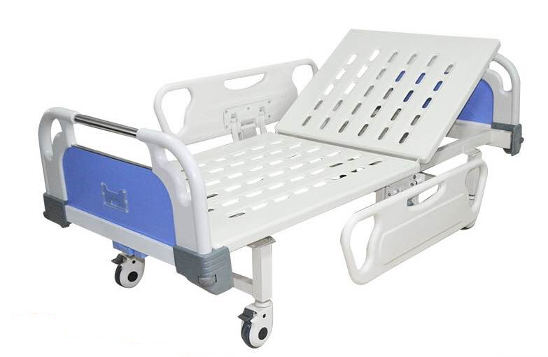one crank hospital bed with abs side rails