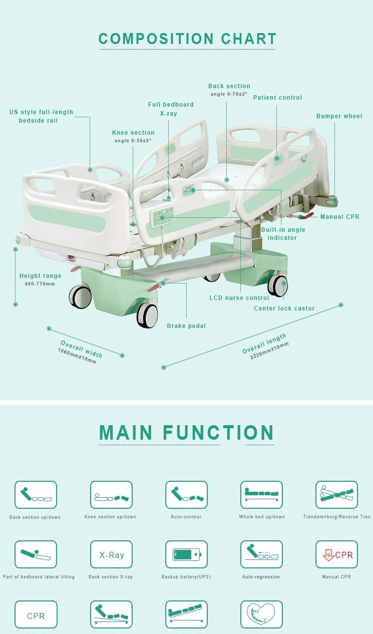 paramount electric iuc bed funtion specification
