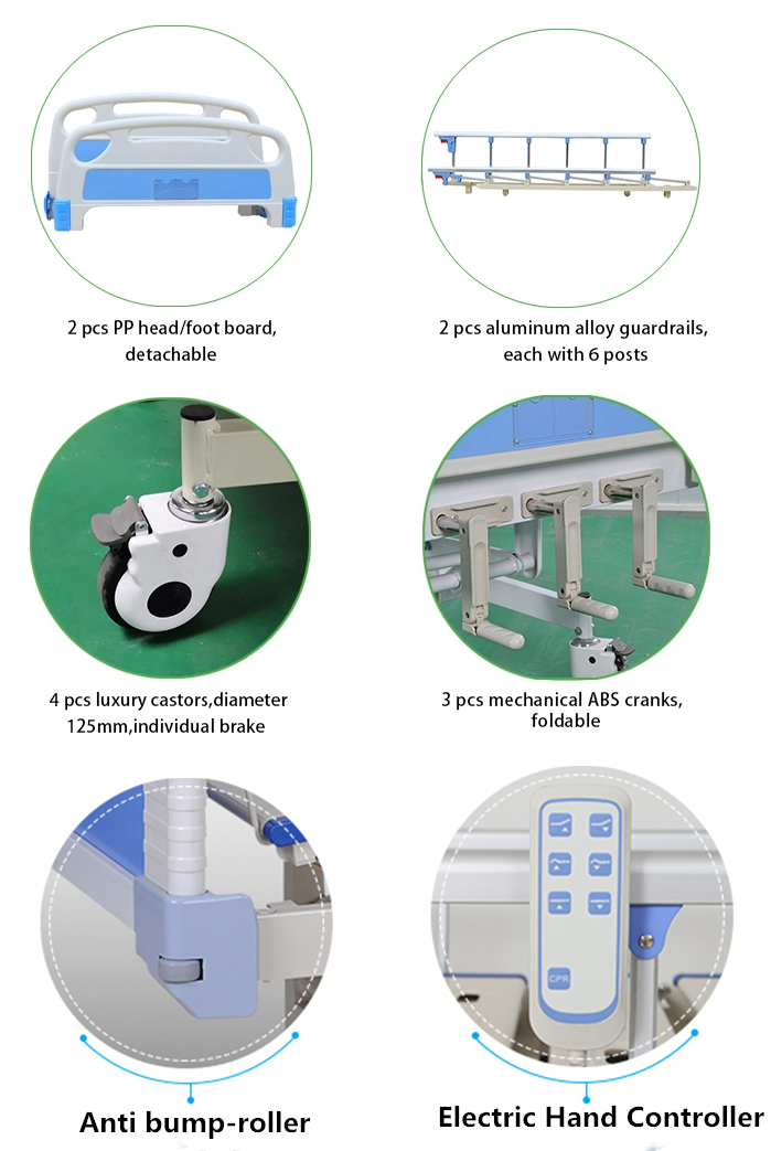 semi electric hospital bed accessories feature