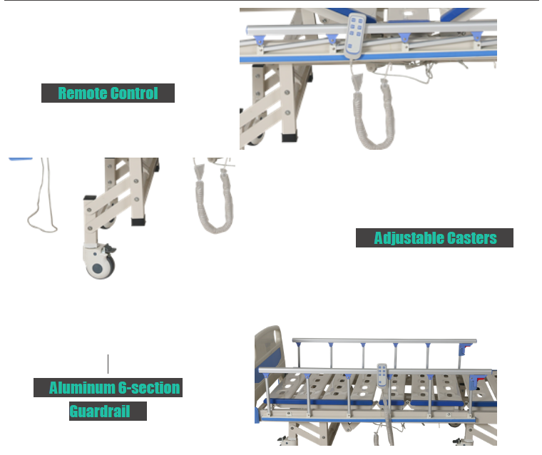 semi electric hospital bed feature