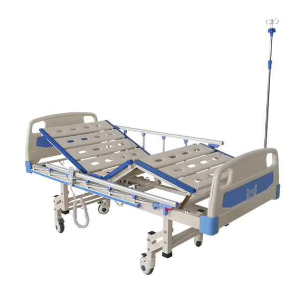 semi electric hospital bed with half rails