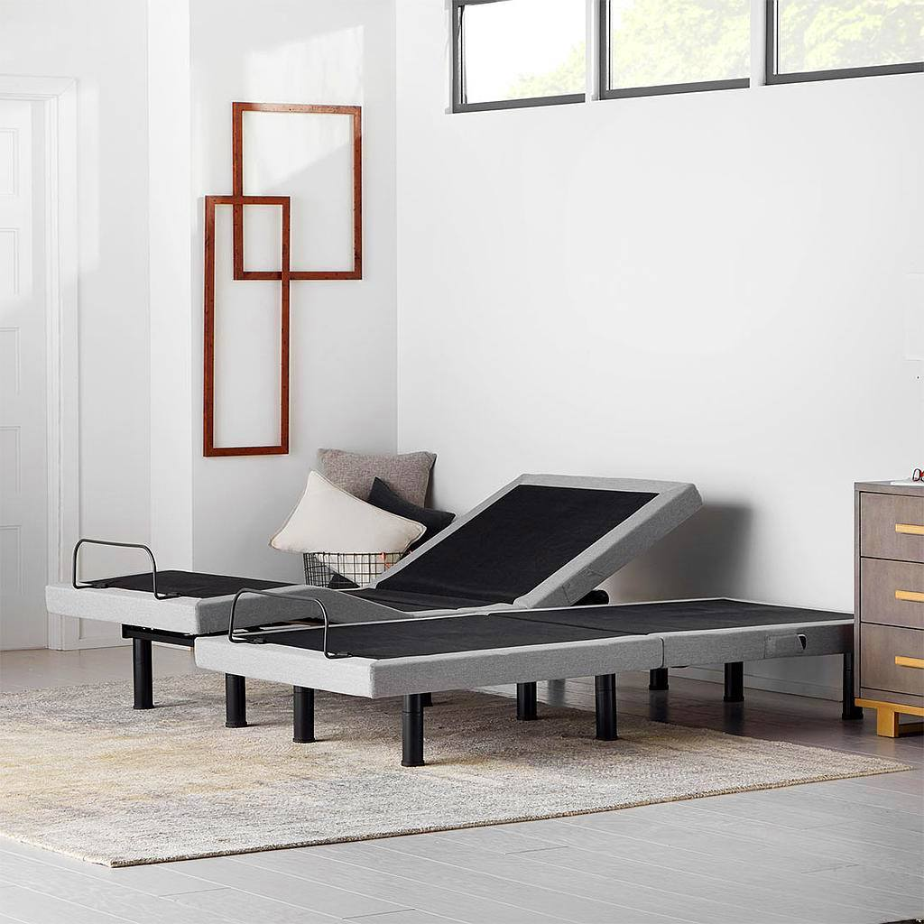 split twin adjustable bed base in home living style