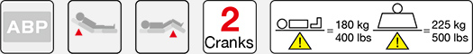 two crank manual hospital bed function