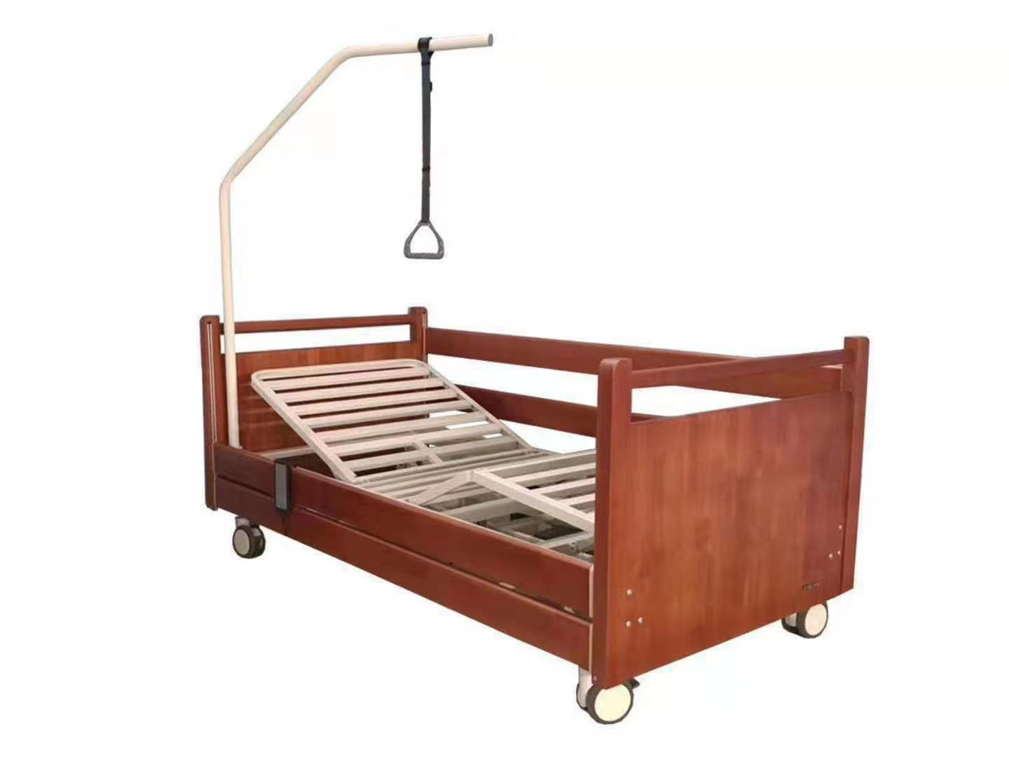 wooden hospital style bed home
